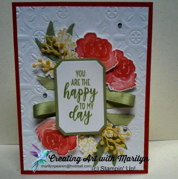Stampin Up First Frost from creatingartwithmarilyn.com